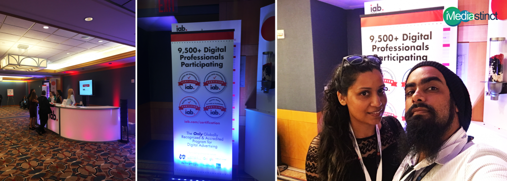 Samron Jude, Co-Founder, Mediastinct™ and Mariel Fonseca, Director Mediastinct™ at advertising Week NYC 2016 Day 2